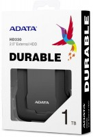"Жесткий диск A-Data USB 3.0 1Tb AHD330-1TU31-CBK HD330 DashDrive Durable 2.5"" черный"