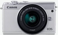 "Фотоаппарат Canon EOS M100 белый/серебристый 24.2Mpix 3"" 1080p WiFi 15-45 IS STM LP-E12 (с объективом)"