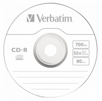 Диск CD-R Verbatim 700Mb 52x Slim case (10шт) (43415)