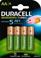 Аккумулятор Duracell Rechargeable HR6-4BL AA NiMH 2500mAh (4шт)